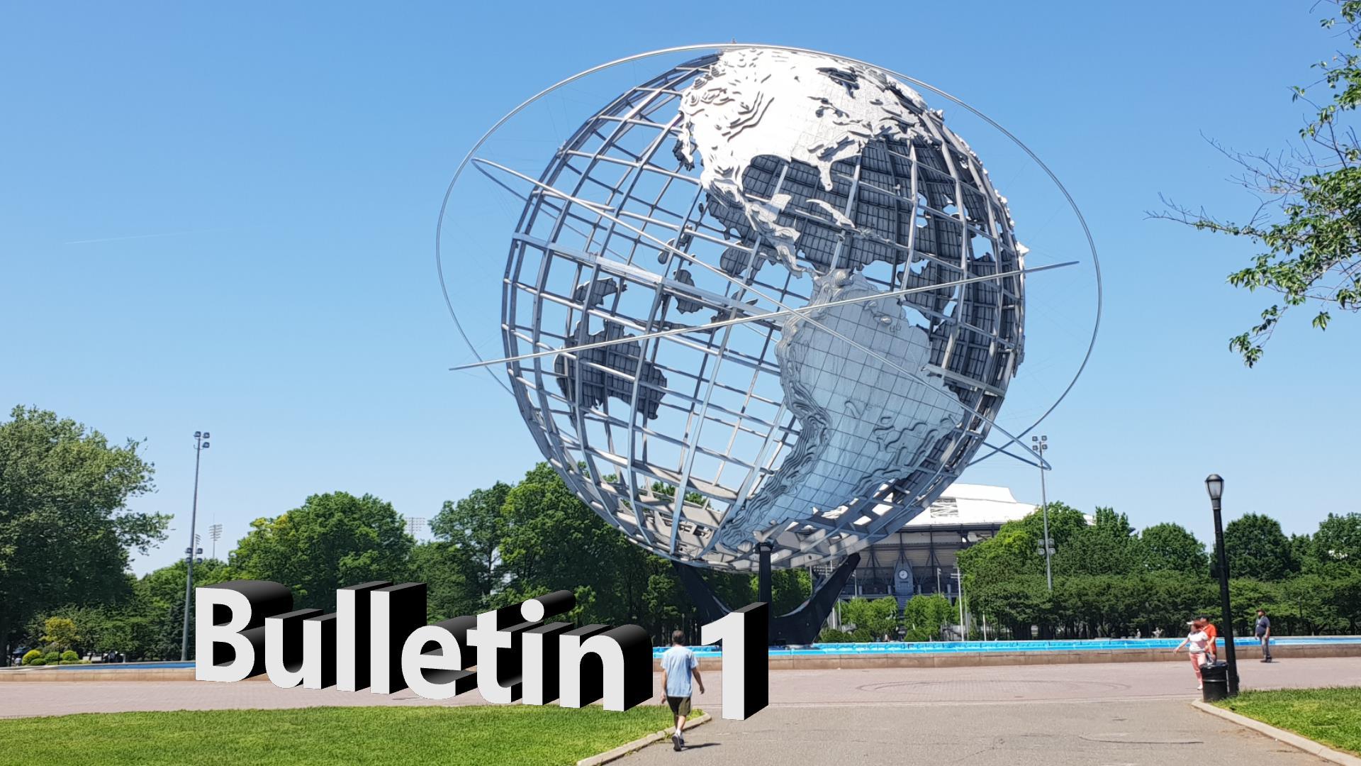Bulletin 1, May 21