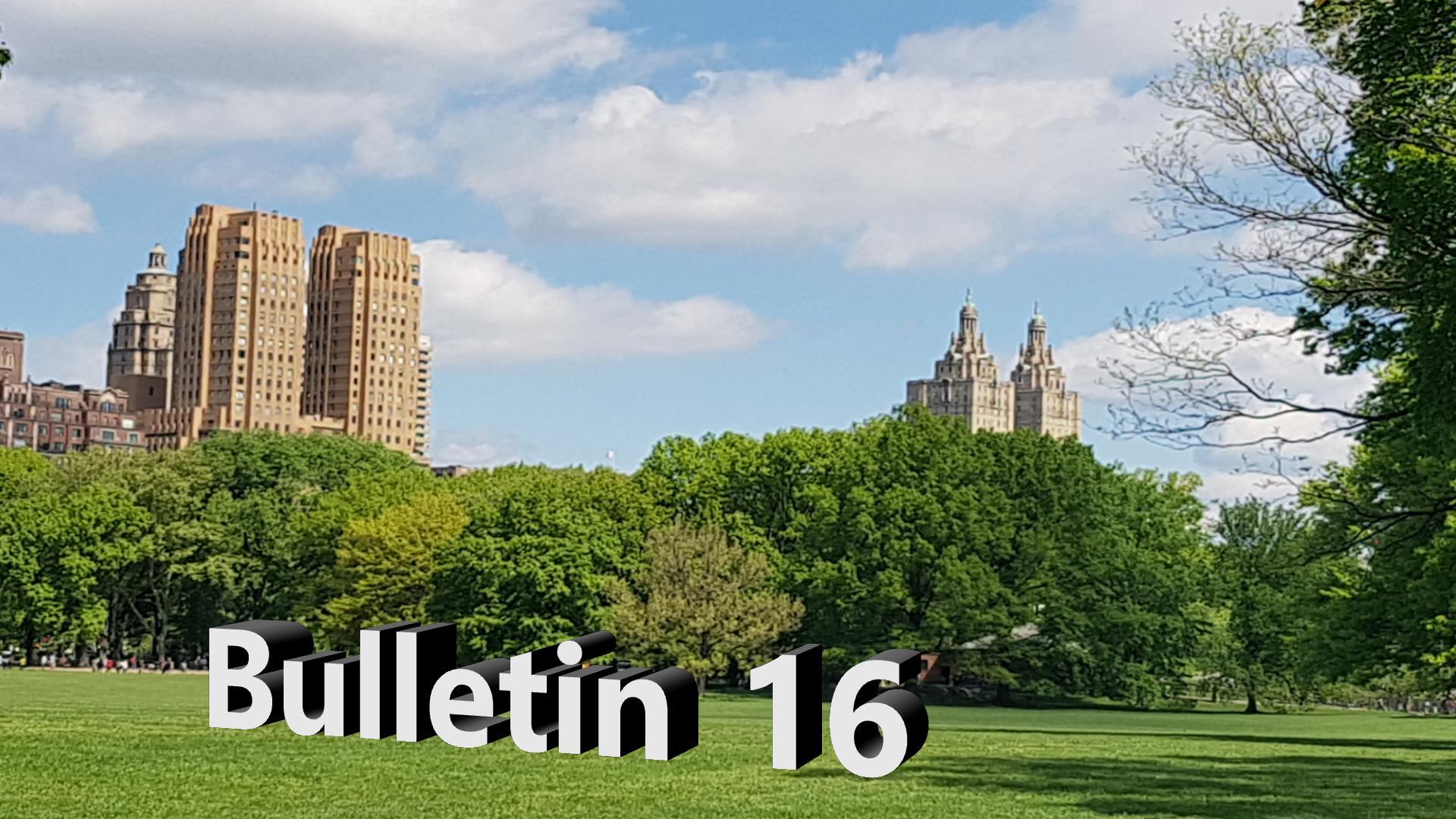 Bulletin 16, June 5